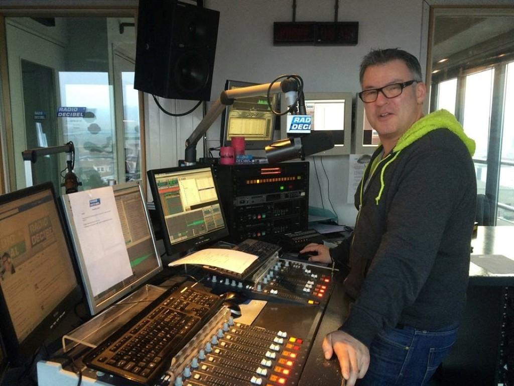 Studio Radio Decibel met DJ Thorvald de Geus /(c) MediaMagazine