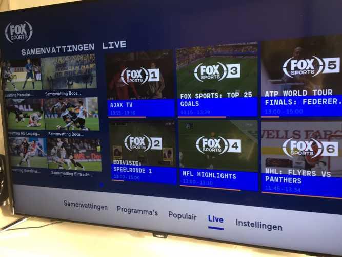 App van FOX Sports voor smart-tv's werkt weer